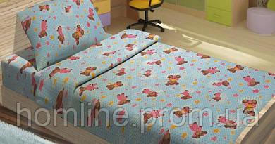 Детское постельное белье для младенцев Lotus ранфорс BoBi голубой