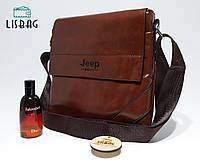 Мужская, классическая сумка-планшетка Jeep, коричневая
