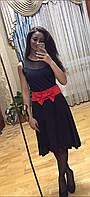 Женское платье с бантом