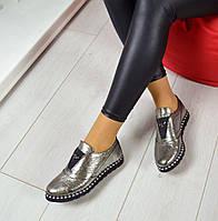 Туфли классические FLY материал натуральная кожа, цвет никель