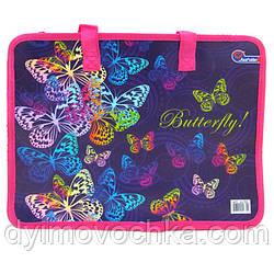 "Сумка с ручками S1705 ""Butterfly"", фиолет., 26х32 см"