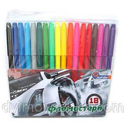 """Фломастеры 828AA-18 """"Racing car"""" 18 цветов, J.Otten"""