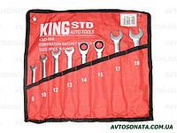 Набор ключей рожково-трещоточных  8шт King STD KSD-008 сумка, фото 1