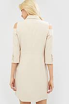 Полуприталенное двубортное платье с отложным воротником (Evida crd), фото 2
