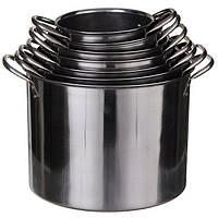 Большой набор кастрюль А-Плюс от 1 л до 16 л, 7 кастрюль с крышками комплект посуды