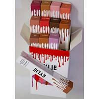 Набор жидких матовых помад Kylie (Кайли) matte liquid lip stick 12в1, фото 1