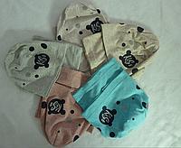 Шапка одинарная трикотаж + хомут KISS 3-8 лет, разные цвета
