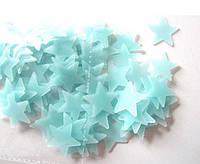 Набор голубых светонакопительных звезд., фото 1