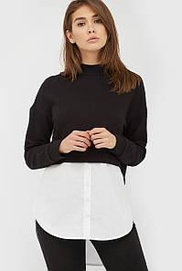 Комбинированная женская кофта-рубашка (Slavia)