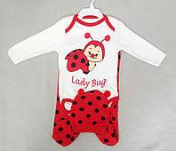 Детский костюм с боди для новорожденных 3-6 мес