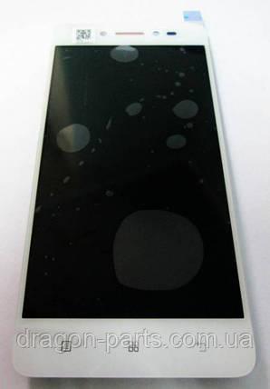 Дисплей Lenovo S90 з сенсором білий/white , оригінал 5D68C00174, фото 2