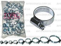 Хомут металл TORC 10-16 оцинковка (50шт)
