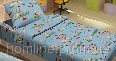 Детское постельное белье для младенцев Lotus ранфорс DoGi голубой