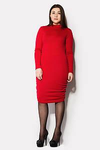Женское красное платье по фигуре больших размеров (Asteria nms)