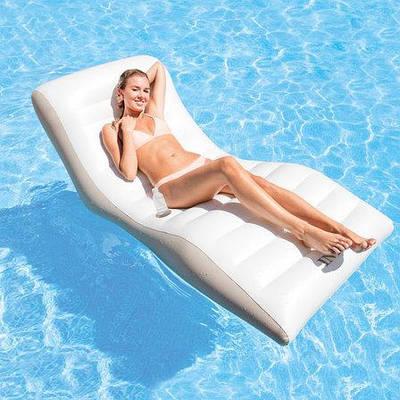 Надувной пляжный матрас-кресло Intex 56861 (193х102см) WAVE LOUNGE