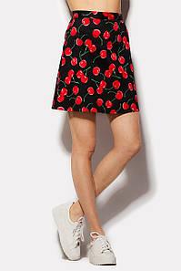 Женская юбка-трапеция с принтом вишен (Westly crd)
