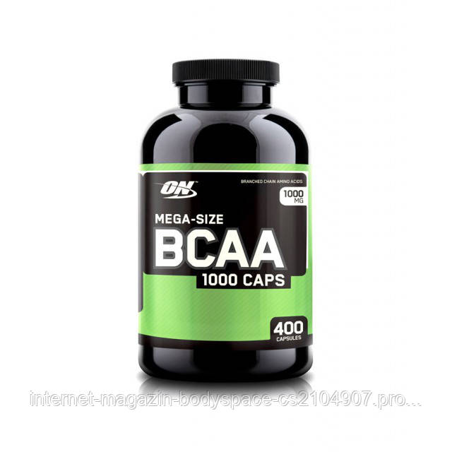 Optimum Nutrition, Бцаа BCAA 1000 Caps Mega-Size, 400 капсул
