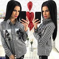 Женская рубашка с пайетками новинка 2018
