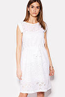 Летнее белое платье из прошвы (Enji crd)
