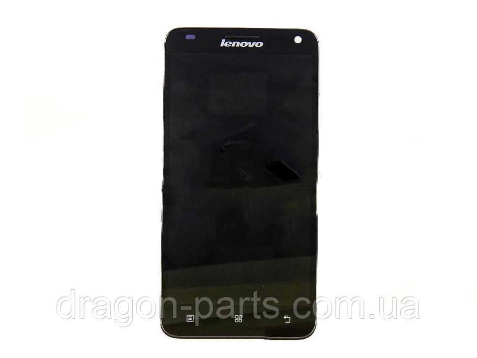 Дисплей Lenovo S960 з сенсором чорний/black , оригінал 5D69A465L8