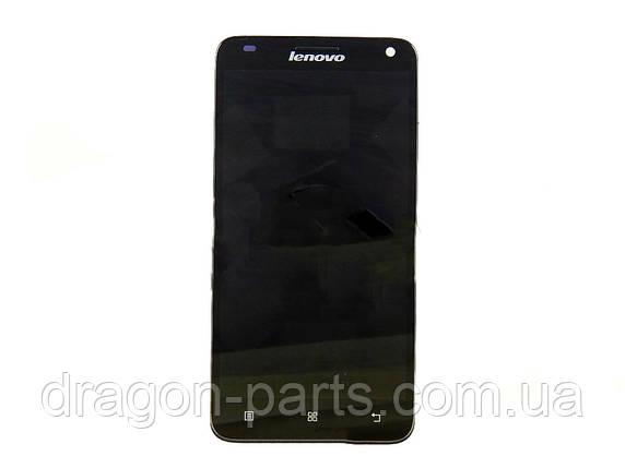 Дисплей Lenovo S960 з сенсором чорний/black , оригінал 5D69A465L8, фото 2