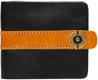 Интересное черное кожаное портмоне ручной  работы Gato Negro Черный GN102 Zeta-Clip Black