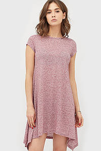 Женское меланжевое платье бордового цвета (Intego crd)