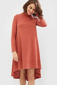 Ангоровое платье терракотового цвета (Leksi crd)