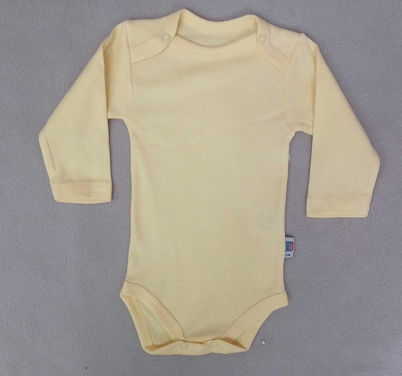 Боди для новорожденных 3-18 месяцев, желтый