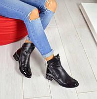 Демисезонные ботиночки Fashion материал натуральная кожа, внутри байка, цвет черный