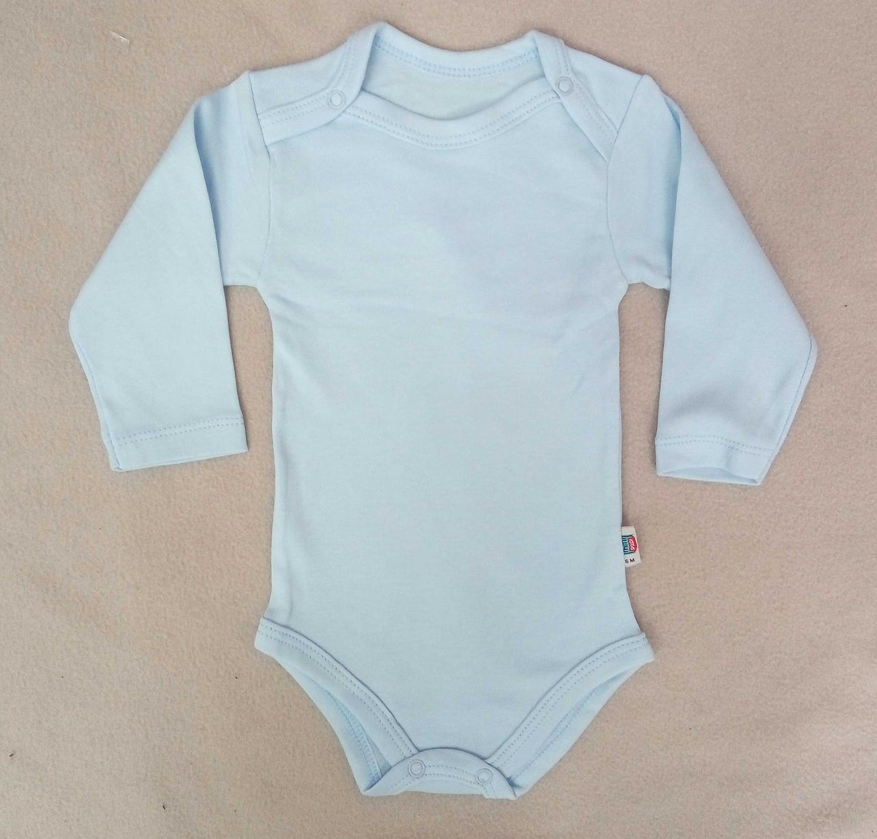 Боди для новорожденных 3-18 месяцев, голубой