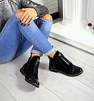 Демисезонные ботиночки Shelli материал натуральная замша, внутри флис, цвет черный