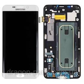 Дисплей Samsung G928 Galaxy S6 Edge plus с сенсором Белый White оригинал , GH97-17819C