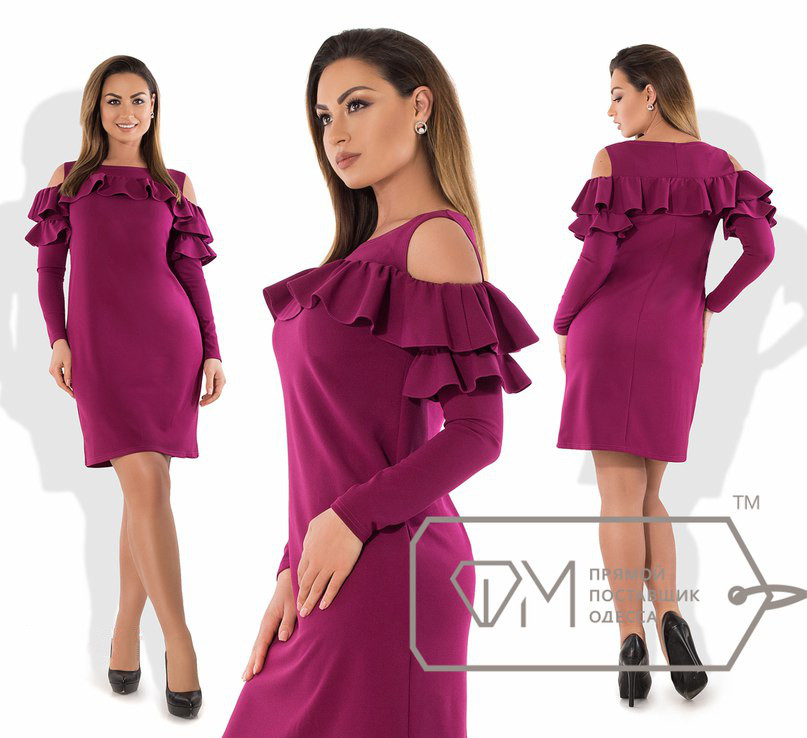 Батальное платье с воланами