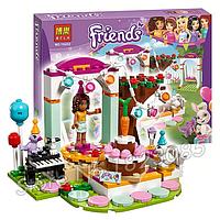 """Конструктор BELA """"Friends"""", сцена, фигурки, 194 деталей.Детский конструктор пластмассовый."""