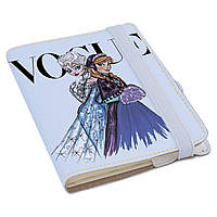 Блокнот Fisher Gifts Rainbow A6 117 Анна и Эльза VOGUE (эко-кожа)
