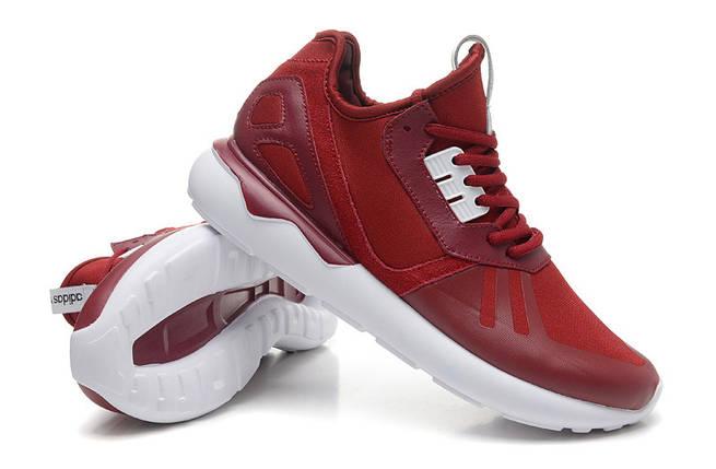 Кроссовки мужские Adidas TUBULAR Runner бордо, фото 2
