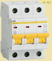 Автоматический выключатель ИЭК 3P 40A  х-ка C BA47-29
