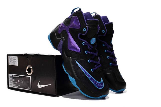 Кроссовки мужские NIKE LEBRON 13  черно/фиолет, фото 2