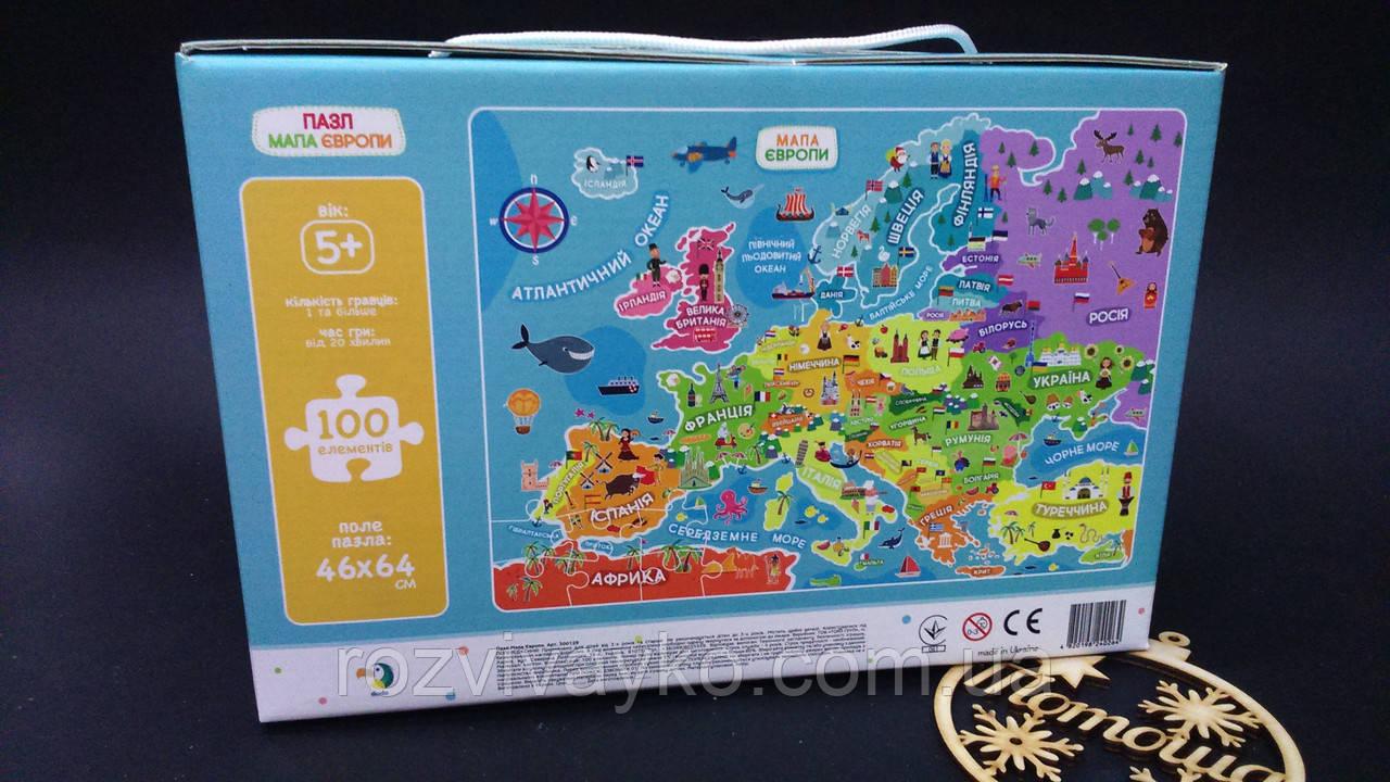 Пазлы Додо Карта Европы: 100 деталей