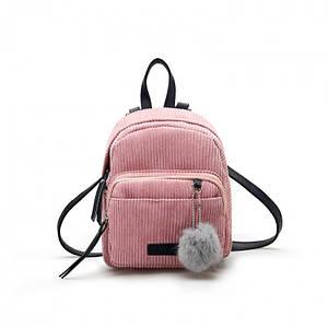 Женский вельветовый мини рюкзак Kelly розовый eps-8110