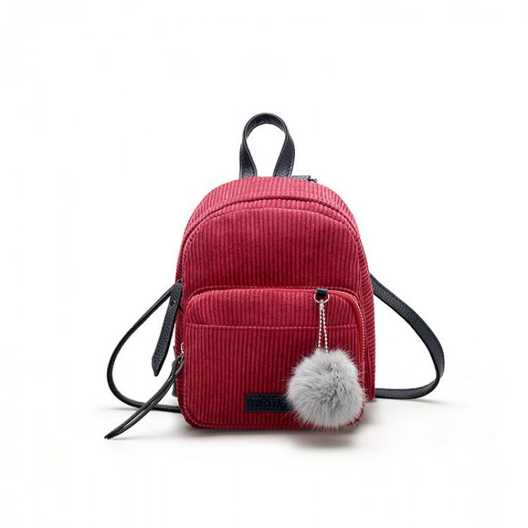 Женский вельветовый мини рюкзак Kelly красный