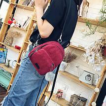 Женский вельветовый мини рюкзак Kelly красный, фото 2