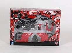 "Мотоцикл метал. New Ray, ""DUCATI 1198"", модель-мото, сборной, масштаб 1:12, в кор. 25*8*5см (12шт)"