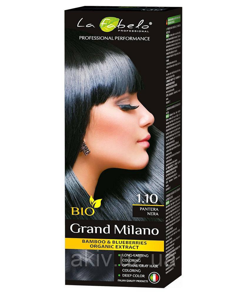 Крем-краска для волос био 100мл тон 1,10 La Fabelo Professional