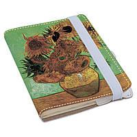 Блокнот Fisher Gifts Rainbow A6 900 Винсент Ван Гог, Подсолнухи (эко-кожа)