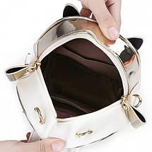Женский мини рюкзак Kelly Сat золотой, фото 2