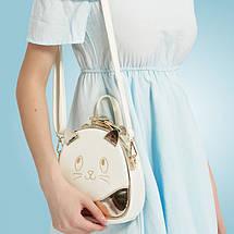 Женский мини рюкзак Kelly Сat золотой, фото 3
