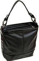 Повседневная черная сумка с одной ручкой  и плечевым ремнем Polianna Черный M 57 801 black лак