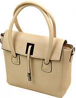 Надежная бежевая сумка для деловых женщин Polianna Бежевый 07-1 70823 beige